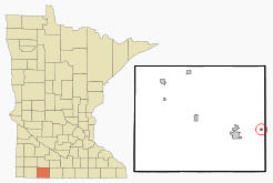 Location of Alpha, Minnesota