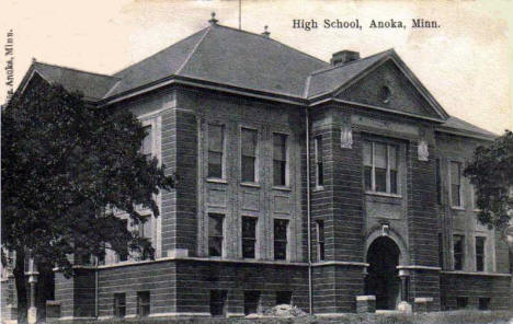 High School, Anoka Minnesota, 1900's?