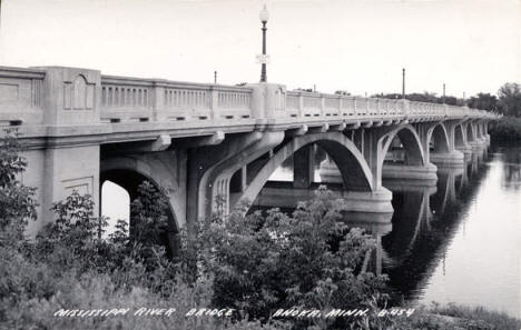 Mississippi River Bridge, Anoka Minnesota, 1930's