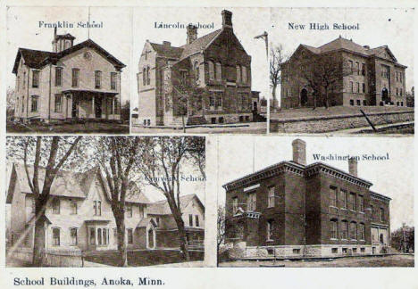School Buildings, Anoka Minnesota, 1910