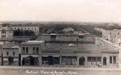 Partial view of Argyle Minnesota, 1914