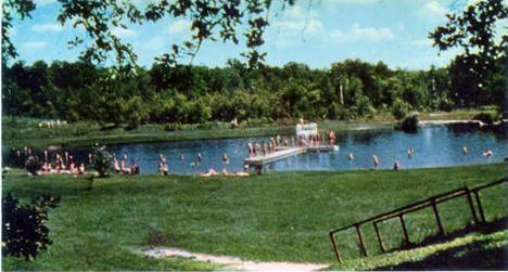 Beach at Old Mill State Park, Argyle Minnesota, 1960's