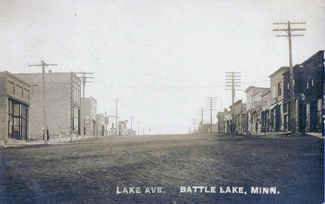 Lake Avenue, Battle Lake Minnesota, 1911