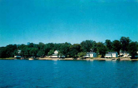Bonnie Beach Resort on Lake Clitherall, Battle Lake Minnesota, 1961