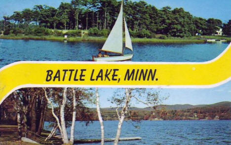 Two scenes, Battle Lake Minnesota, 1962