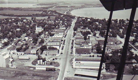 Aerial view, Battle Lake Minnesota, 1940's?