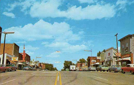 Street scene, Battle Lake Minnesota, 1969