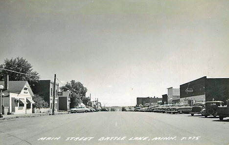 Main Street, Battle Lake Minnesota, 1950's