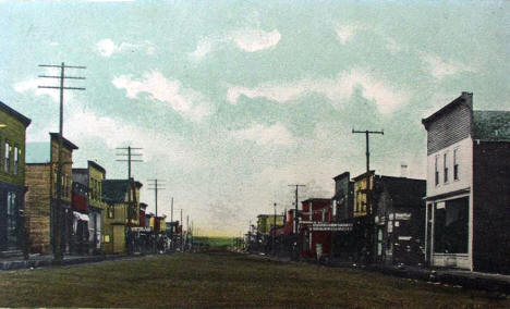 Main Street looking west, Biwabik Minnesota, 1900's