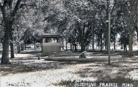 City Park, Blooming Prairie Minnesota, 1911