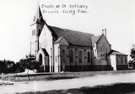 Church of St. Anthony, Browns Valley Minnesota, 1910s?