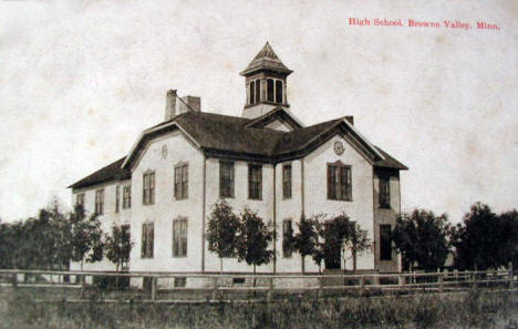 High School, Browns Valley Minnesota, 1914