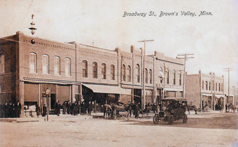 Broadway Street,  Browns Valley Minnesota, 1909