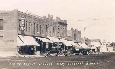 Street Scene, Browns Valley Minnesota, 1920?