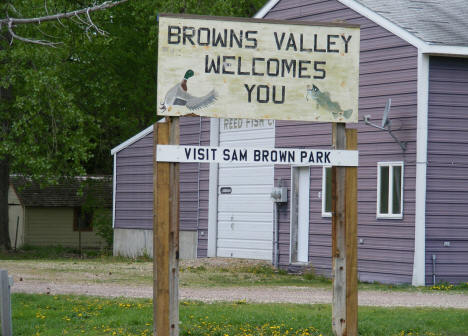 Browns Valley Minnesota Welcome Sign, 2008