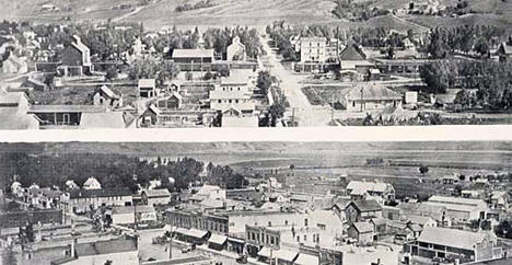 Birdseye views of Brown's Valley Minnesota, 1915