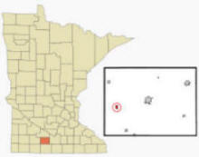 Location of Butterfield Minnesota