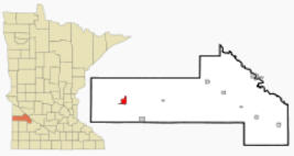 Location of Canby Minnesota