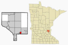 Location of Circle Pines, Minnesota