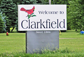 Clarkfield Minnesota welcome sign