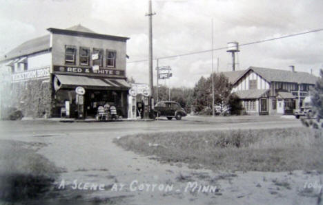 Street scene, Cotton Minnesota, 1940's