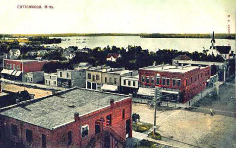 Birds eye view, Cottonwood Minnesota, 1908