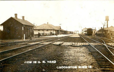 Great Northern Railway Yard, Crookston Minnesota, 1910's?