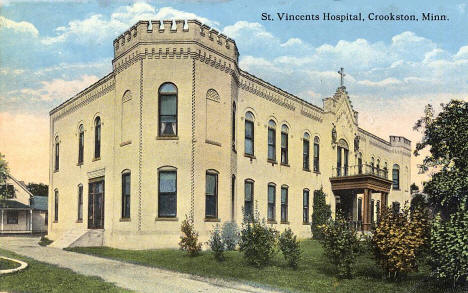 St. Vincents Hospital, Crookston Minnesota, 1907