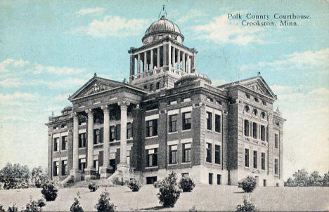 Polk County Courthouse, Crookston Minnesota, 1932
