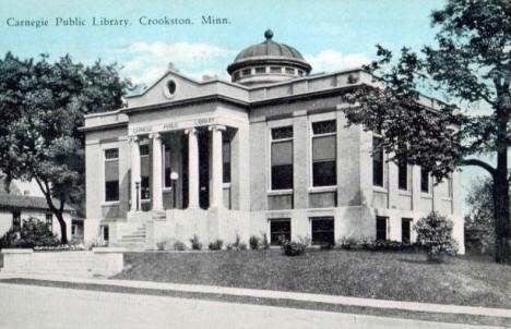 Carnegie Public Library, Crookston Minnesota, 1931