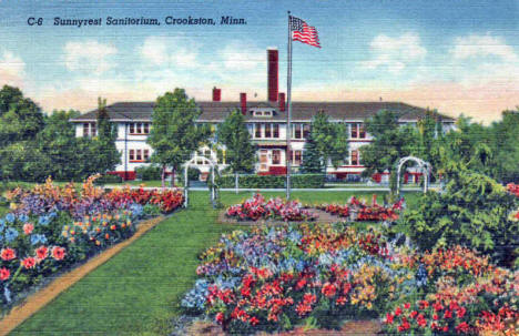 Sunnyrest Sanatorium, Crookston Minnesota, 1938