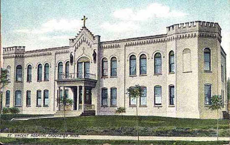 St. Vincent Hospital, Crookston Minnesota, 1910