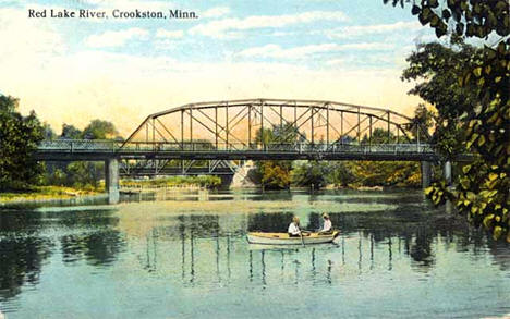 Red Lake River, Crookston Minnesota, 1915