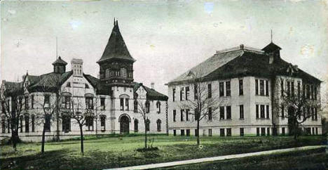 High School Buildings, Crookston Minnesota, 1900's
