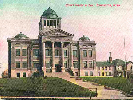 Courthouse and Jail, Crookston Minnesota, 1905