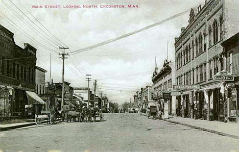 Main Street looking north, Crookston Minnesota, 1905