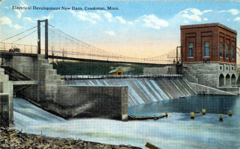Electrical Development New Dam, Crookston Minnesota, 1920's?