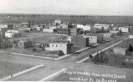 View of Crosby Minnesota from the water tower, 1912