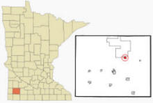 Location of Currie, Minnesota