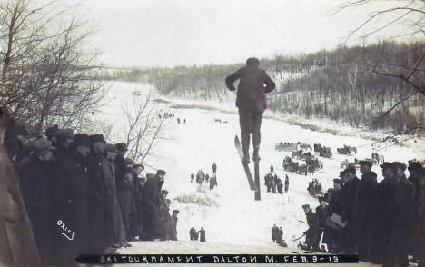 Ski Tournament, Dalton Minnesota, 1913