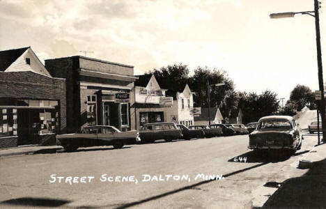 Street scene, Dalton Minnesota, early 1960's