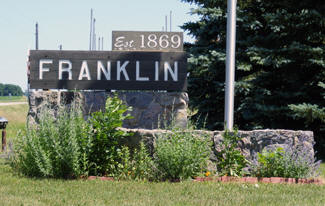 Franklin Minnesota welcome sign