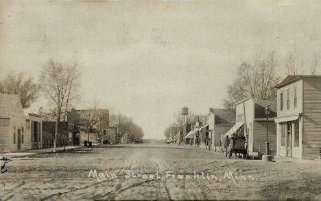 Main Street, Franklin Minnesota, 1921