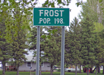 Frost Minnesota population sign