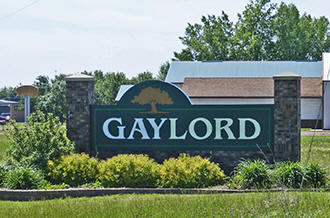Gaylord Minnesota welcome sign