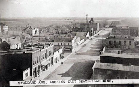 Studdard Avenue looking east, Graceville Minnesota, 1900's