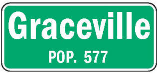 Graceville Minnesota population sign