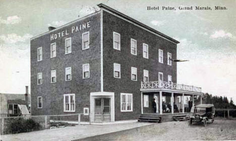 Hotel Paine, Grand Marais Minnesota, 1922