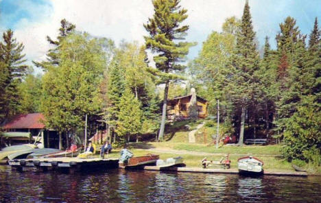 Balsam Grove Lodge on Poplar Lake,  Grand Marais Minnesota, 1966