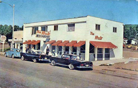 The Hub Restaurant, Grand Marais Minnesota, early 1960's